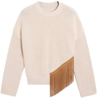 Valentine Witmeur Off-white Fringe Sweater