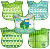 I Play Green Sprouts by 5-pk. Wipe-Off Bibs