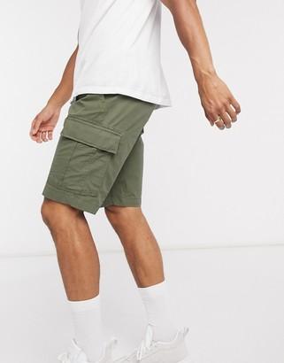 Tommy Hilfiger john light twill cargo shorts with belt in khaki