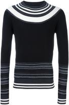 Neil Barrett fair isle striped jumper