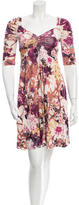 Just Cavalli Ruched Floral Dress w/ Tags
