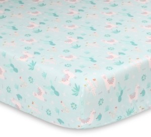 The Peanut Shell The Little Llama Fitted Crib Sheet Bedding