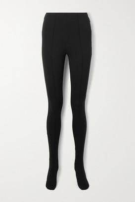 Balenciaga Stretch-ponte Leggings - Black