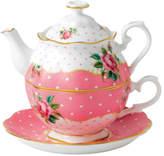 Royal Albert Cheeky Pink Tea For 1