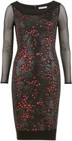 Gina Bacconi Rouge black sequin dress with mesh