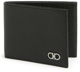 Salvatore Ferragamo Men's 'Ten Forty One - Mini Chicco' Trifold Wallet - Black