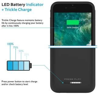 PRESS PLAY MFi Nero Battery iPhone 8 Plus/7 Plus Case - Black