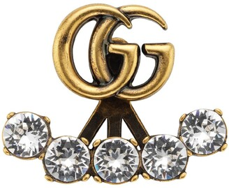 Gucci Single crystal Double G earring