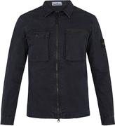 Stone Island Point-collar cotton-gabardine overshirt