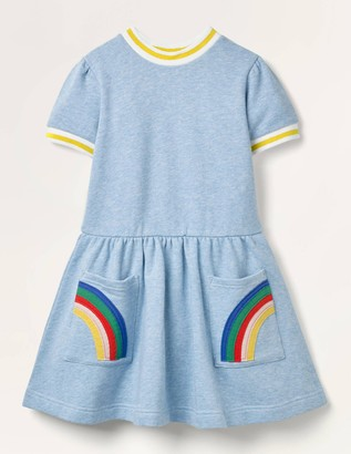 Applique Pocket Jersey Dress