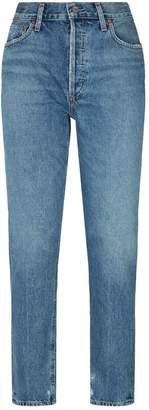 A Gold E Agolde Jamie Straight-Leg Jeans