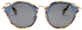 Miu Miu Bi-colour round-frame sunglasses