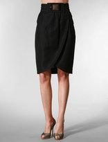 Tulip Skirt with Beaded Belt in Black