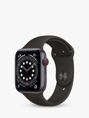 Apple Watch Series 6 GPS + Cellular, 40mm Space Grey Aluminium Case with Black Sport Band - Regular