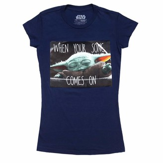 Star Wars Junior's Young Women Teen Girls Baby Yoda Mandalorian Child Song T-Shirt