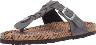 Muk Luks Women's Marsha Terra Turf-Dark Grey Sandal 10 M US