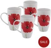 Sabichi Poppy Collection – Set Of 4 Mugs
