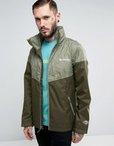Columbia Inner Limits Hooded Jacket Waterproof Tricolour In Green 2 Tone