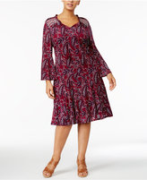 Style&Co. Style & Co Plus Size Printed Peasant Dress, Only at Macy's