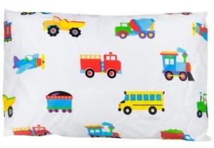 Wildkin Wildkin's Trains, Planes, Trucks Hypoallergenic Toddler Pillowcase Bedding