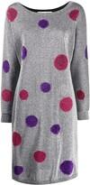Christian Dior pre-owned polka dots lurex dress