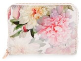 Ted Baker Women's Mini Painted Posie Zip Around Leather Wallet - Pink