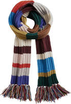 Burberry long striped knitted scarf