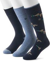 Chaps Men's 3-pack Mallard & Solid Cushioned Crew Socks