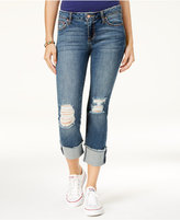 Celebrity Pink Juniors' Ripped Cuffed Jeans