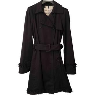 Frankie Morello Black Cotton Trench coats