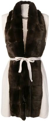 N.Peal Fur Collar Knit Gilet