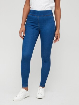 Very High Waist Jegging - Mid Wash
