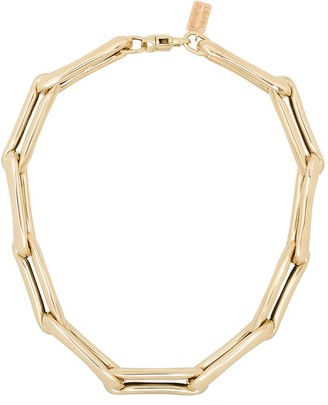 LAUREN RUBINSKI 14kt Yellow Gold Large Chain-Link Necklace