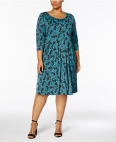 NY Collection Petite Plus Size Pleated Dress