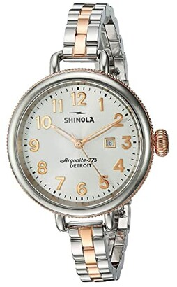Shinola Detroit The Birdy 34mm - 20001100 (Pearl White/Stainless Steel/Rose Gold) Watches