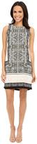 Vince Camuto Sleeveless Delicate Maze Panel Shift Dress