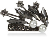 INC International Concepts Hematite-Tone Imitation Pearl and Jet Stone Pin