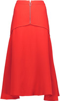 Derek Lam Pleated silk midi skirt