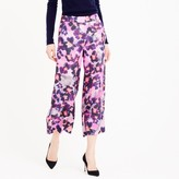 J.Crew Collection wide-leg silk pant in watercolor floral