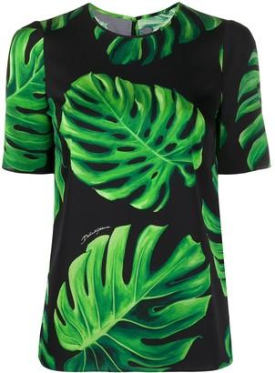 Dolce & Gabbana Philodendron print T-shirt