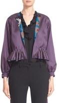 Etro Women's Reversible Peplum Jacquard Jacket