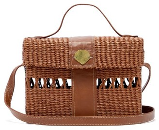 Sensi Studio - X Loulou De Saison Straw Cross-body Bag - Womens - Brown