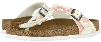 Birkenstock Gizeh Soft Footbed (Supernatural Flower White Birko-Flortm) Women's Sandals