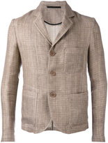 Giorgio Armani three-button blazer - men - Cotton/Linen/Flax - 48