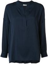 Vince mandarin neck shirt - women - Silk/Spandex/Elastane - XS