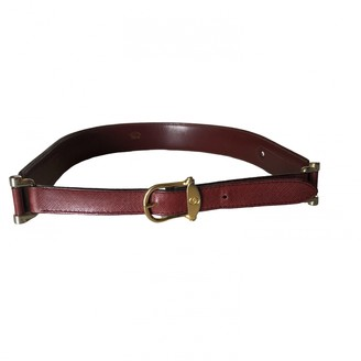 Gucci Burgundy Leather Belts