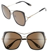 Givenchy Women's 7031/s Airy 55Mm Oversized Sunglasses - Black/ Gold