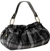 Women's Plaid Tweed Hobos - Black Plaid