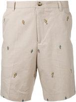 Kenzo badge embroidered chino shorts