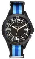 Daniel Hechter DHH 3AA - 002/Men's Watch Analogue Quartz Black Dial Black Nylon Strap